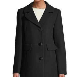 Kate Spade Black 32 Inch Peacoat Winter Coat